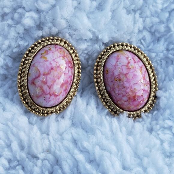 80's Business Woman Strawberry Swirl Earrings